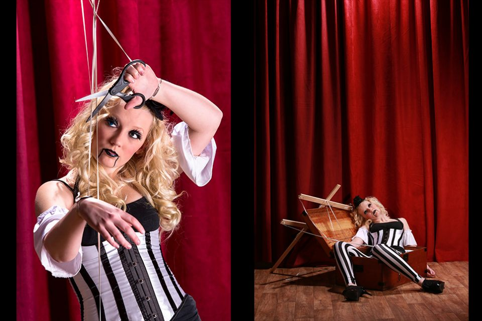 desinger-portrait-marionette-cutting-strings-melbourne-lifeless-in-box-infocus-photography